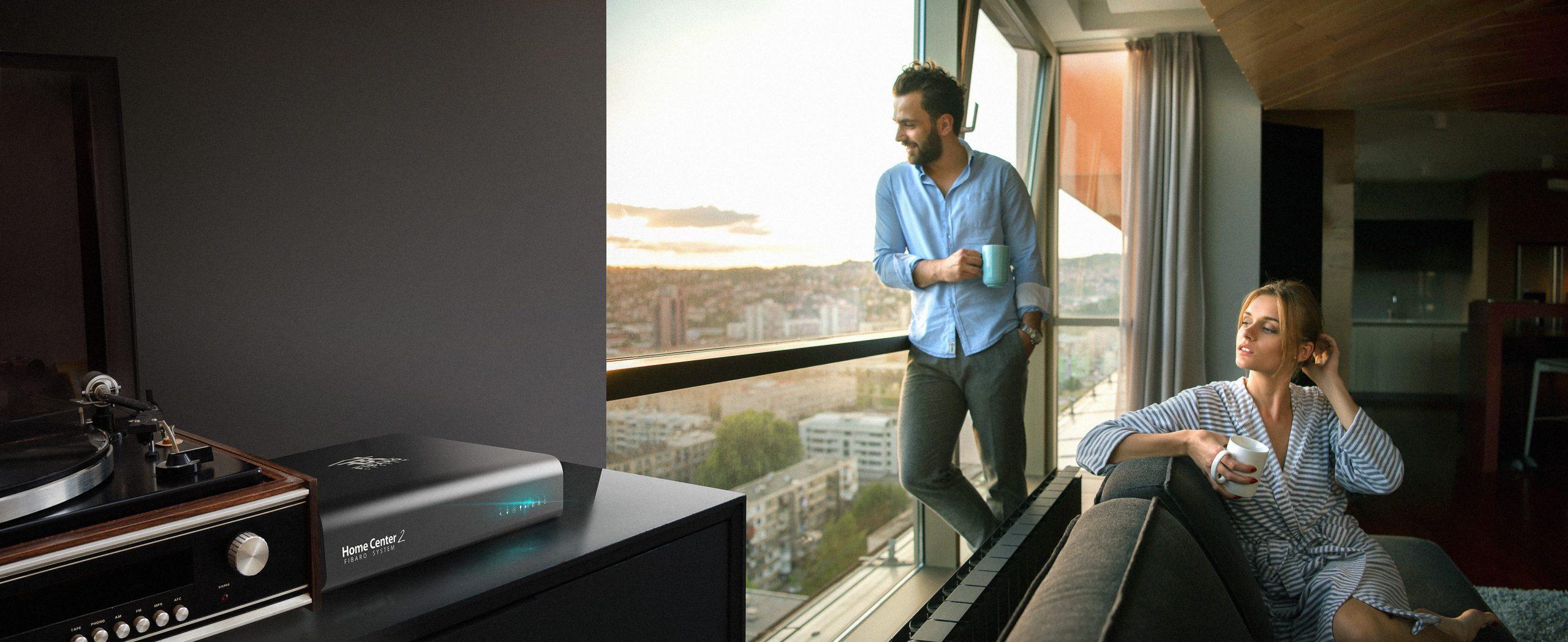 Bộ điều khiển trung tâm nhà thông minh smarthome điều khiển bằng giọng nói fibaro HC2