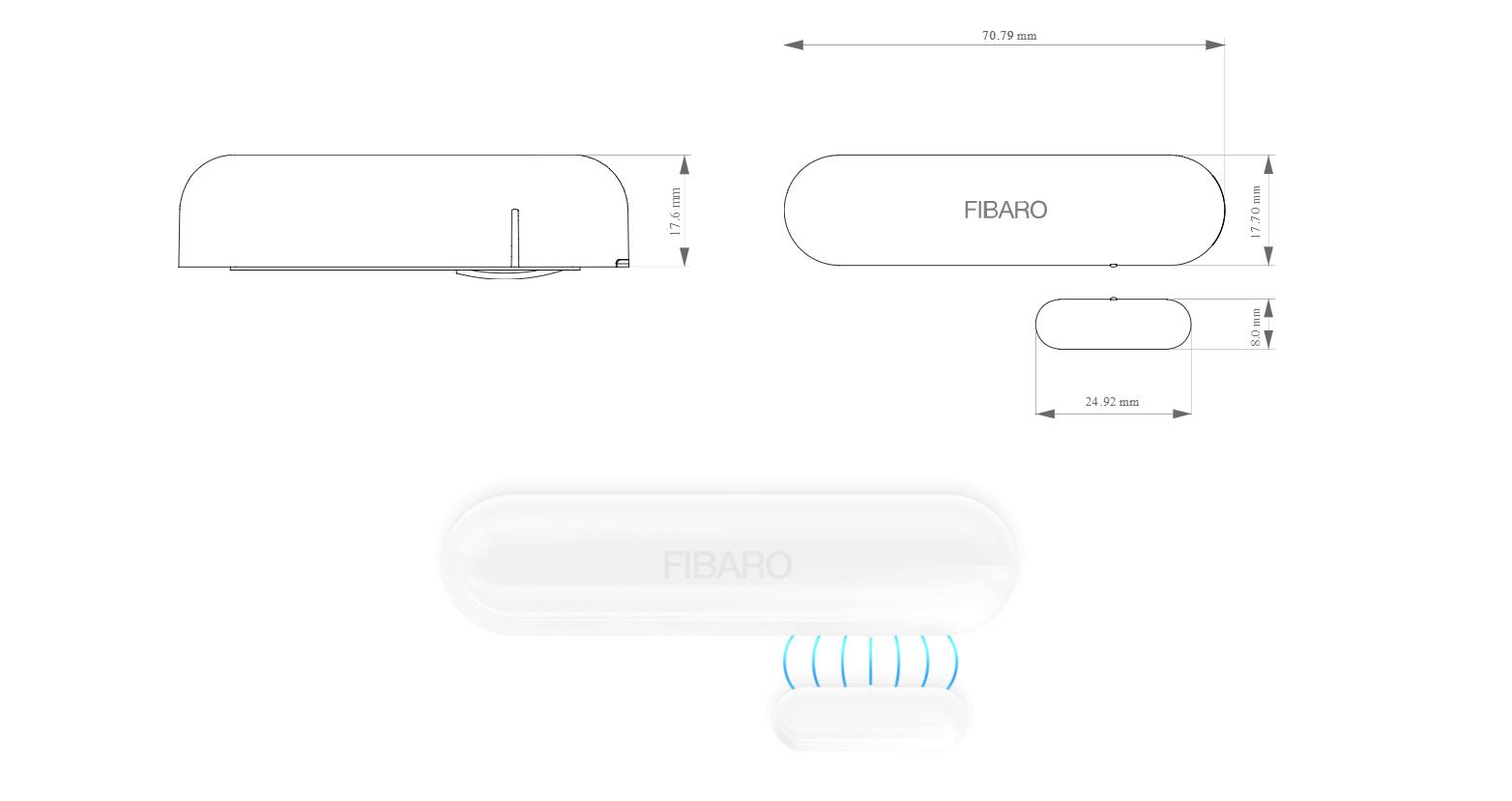 Cảm biển cửa nhà thông minh smarthome Door Sensor 2 FIBARO